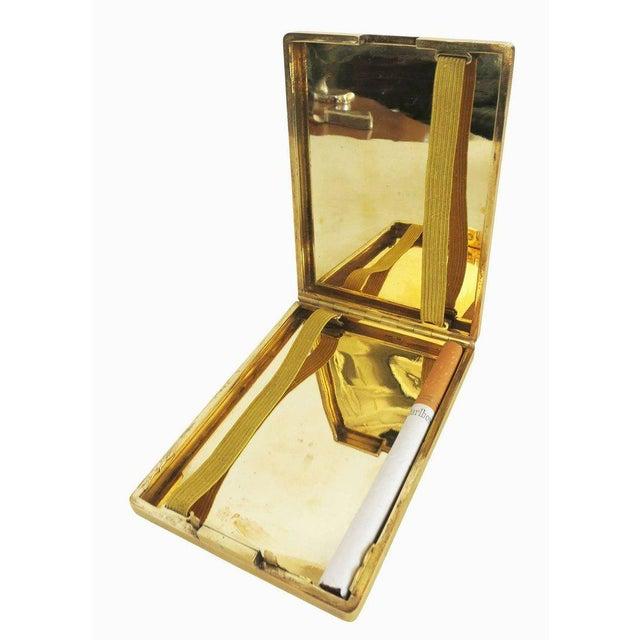 1930s 18-Karat Gold Art Deco Cigarette Case For Sale - Image 5 of 10