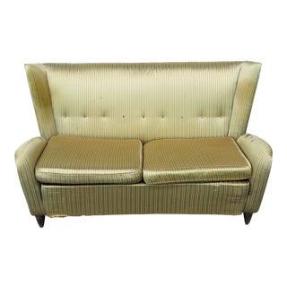 Italian Modern Gio Ponti Style Upholstered Sofa