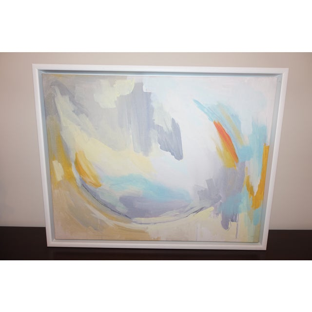 Linda Colletta, After the Rain Framed Abstract giclee on Canvas This graceful, ethereal abstraction is a print of an...