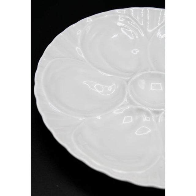 Pillivuyt et Cie Vintage French Pillivuyt White Oyster Plate For Sale - Image 4 of 8
