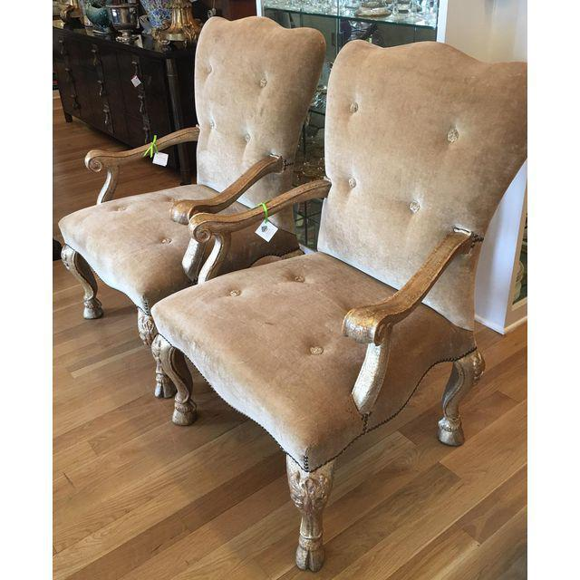 Therien Studios Baroque Arm Chairs- A Pair - Image 2 of 5