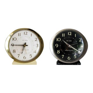 Vintage Westclox Big Ben Alarm Clocks - A Pair