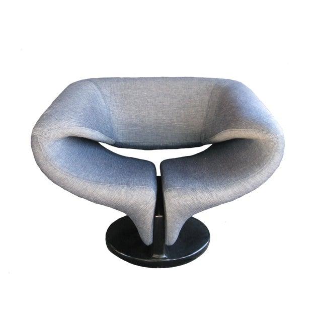 Pierre Paulin Style Ribbon Chair in Light Denim - Image 1 of 7