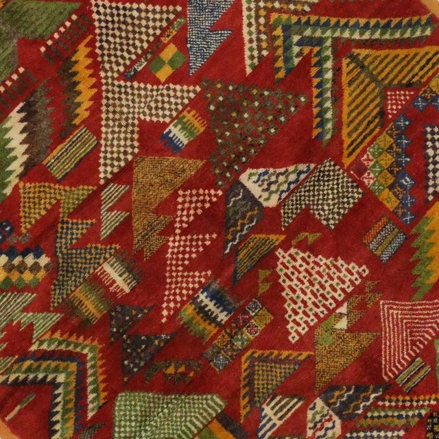 Berber Tribes of Morocco Vintage Berber Moroccan Rug -- 5'4 x 8'2 For Sale - Image 4 of 4