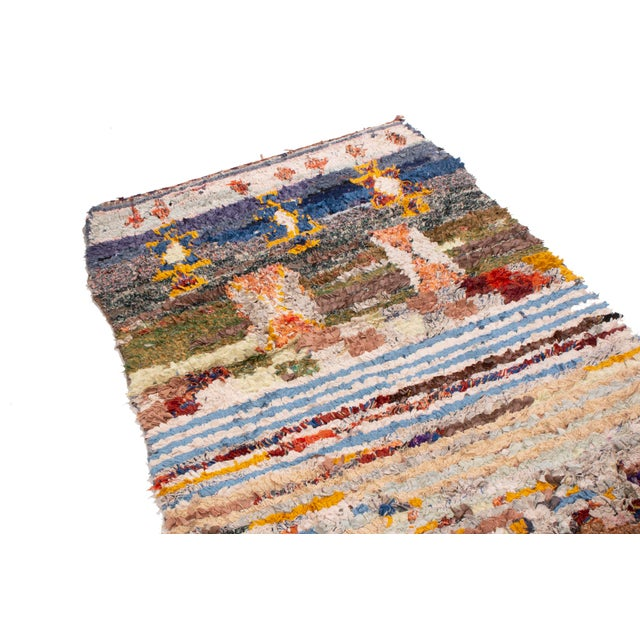 Contemporary Contemporary Moroccan Multi-Patterned Geometric Rug - 3′4″ × 5′8″ For Sale - Image 3 of 6