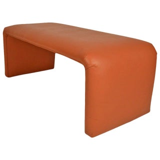 Vinyl Waterfall Style Bench From Catskill Ny Resort For Sale