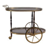 Image of Mid-Century French Neoclassical Bar Cart For Sale