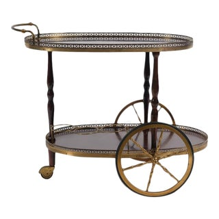 Mid-Century French Neoclassical Bar Cart For Sale
