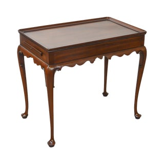 Kittinger Cw-8 Vintage Mahogany Queen Anne Tea Table For Sale