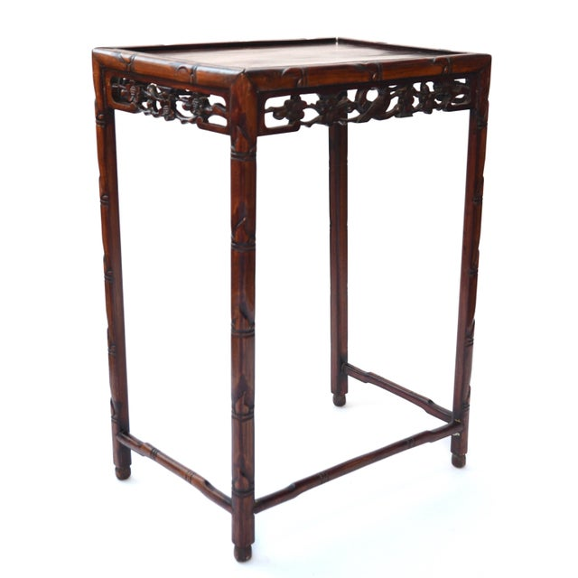 Brown Chinese Side Table Qing Dynasty 19th C For Sale - Image 8 of 10