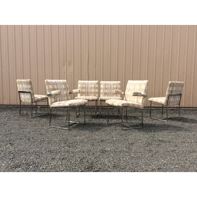 Chrome Dining Chairs Baughman Style - Set of 6 - Image 2 of 10
