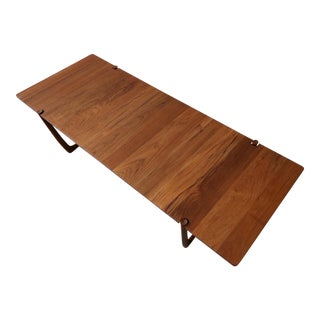 Solid Danish Teak Coffee Table For Sale