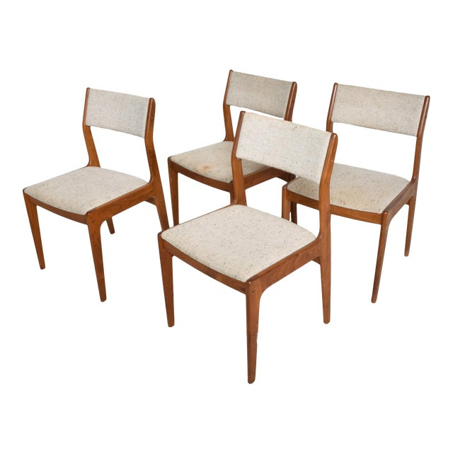 Benny Linden Mid-Century Danish Modern Teak Dining Chairs - Set of 4 For Sale