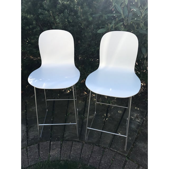 Cappellini Tate White Bar Stools - A Pair - Image 2 of 4