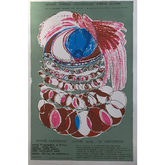 Vintage Conventum Music Poster For Sale - Image 5 of 5