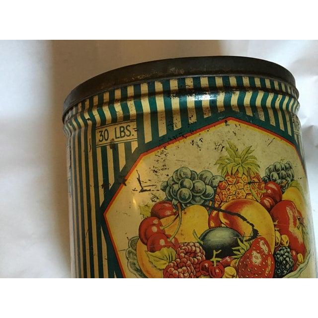 Vintage Sunshine Brand Fruit Tin For Sale In New York - Image 6 of 11