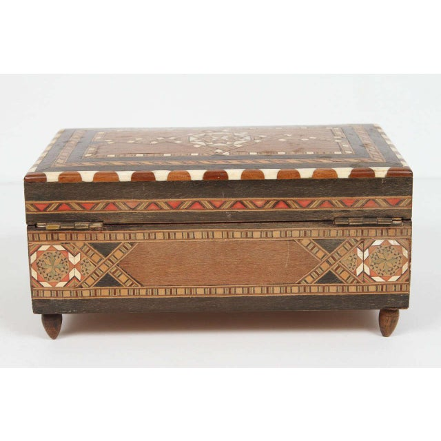 Spanish Inlaid Marquetry Jewelry Music Box For Sale In Los Angeles - Image 6 of 10