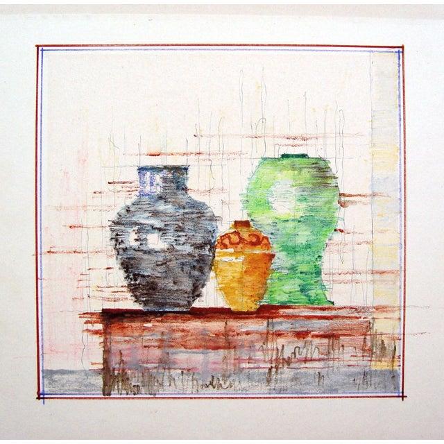 Modernist Still Life of Pottery - Image 2 of 2