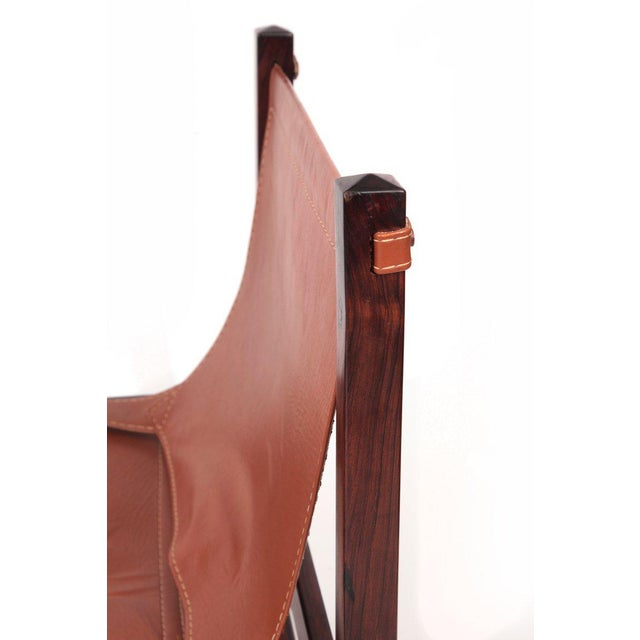 Jorge Zalszupin Rare Jorge Zalszupin Chair and Ottoman For Sale - Image 4 of 8