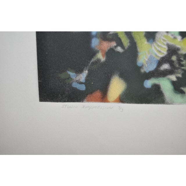 "David T. Kessler ""Reflected Overhang"" Lithograph For Sale - Image 9 of 9"