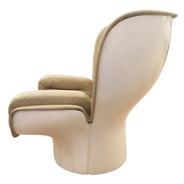 """Mid-Century Modern Pair of """"Elda"""" Swivel Chairs by Joe Colombo, Italy, 1963 For Sale - Image 3 of 8"""