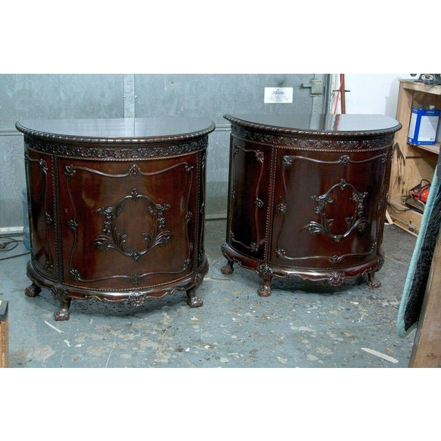 Gerogian Style Demi Lune Commode - Image 3 of 10