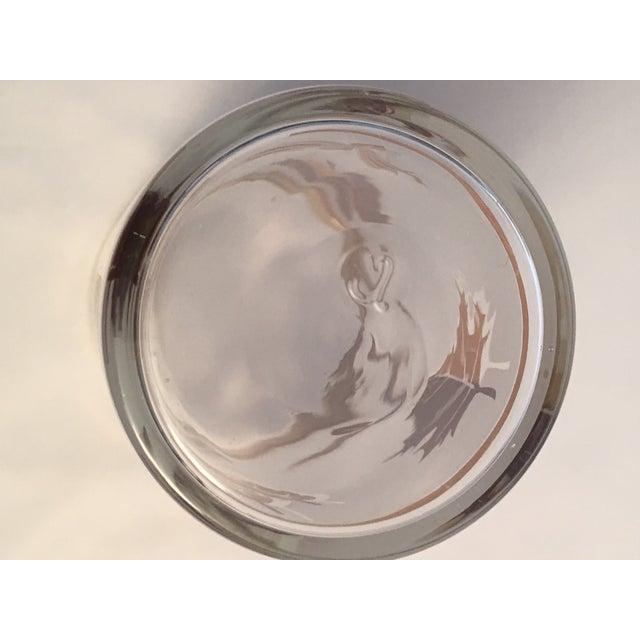 Vintage Gold Leaf Frosted Glassware - Set of 16 - Image 6 of 11