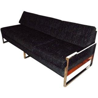 1960s Vintage Milo Baughman Chrome-Plated Sofa For Sale