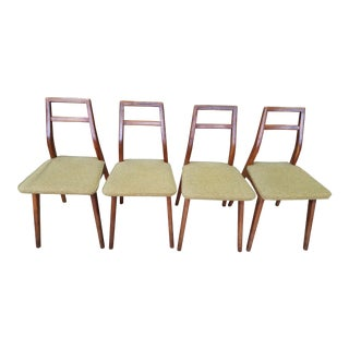 Vintage Mid Century Danish Modern Dining Chairs- Set of 4 For Sale
