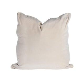 22 X 22 Snow Creme Velvet Pillow For Sale