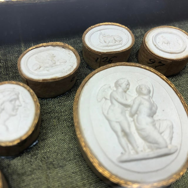 Glass 19th Century Antique Grand Tour Intaglio Sculptural Wall Objects - a Pair For Sale - Image 7 of 13
