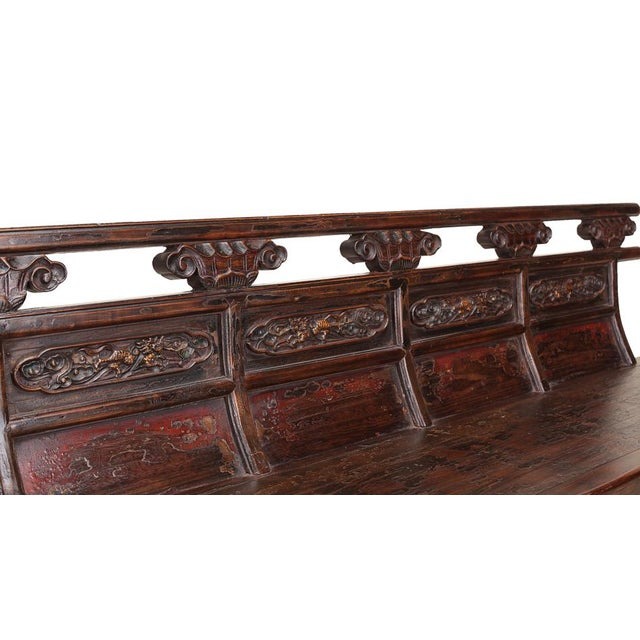 Sarreid Ltd. C. 1900 Chinese Temple Bench - Image 4 of 4