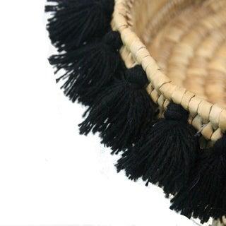 Moroccan Black Tassel Small Basket Preview
