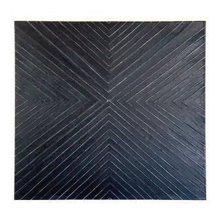 "Abstract Geometric Black Painting, ""Forcefield"" by Jeb Knight For Sale"