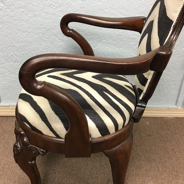 Brown Animal Print Armchair For Sale - Image 8 of 11