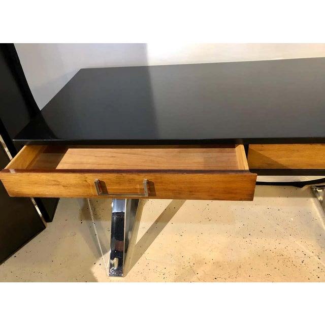 1960s Mid-Century Modern Milo Baughman Vanity Desk For Sale - Image 5 of 13