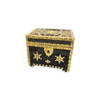 Antique Hand Made Treasure Chest Box