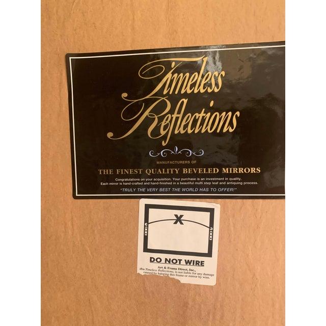 Art Deco Gold Leaf Beveled Glass Mirror For Sale - Image 11 of 13