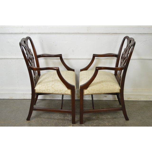 Baker Vintage Set of 6 Solid Mahogany Chippendale Style Dining Chairs - Image 3 of 10