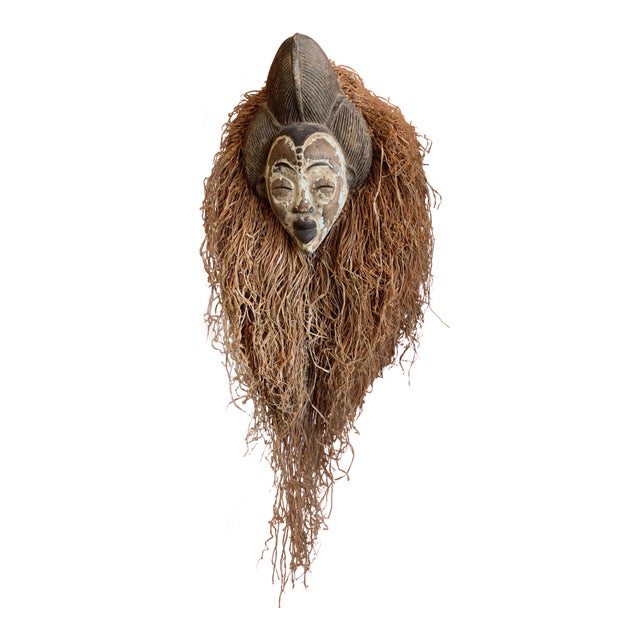 West African Punu Mukadj Spirit Mask For Sale