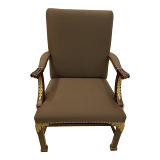 Baker Furniture Stately Homes Collection Arm Chair For Sale