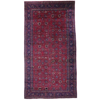1920s Arts & Crafts Turkish Sparta Palace Size Rug - 11′ × 20′6″ For Sale