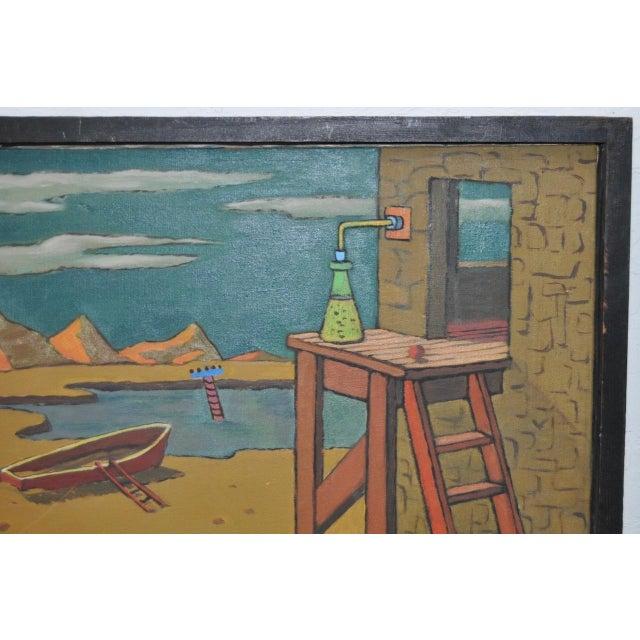 Surrealism 1940s Surreal Painting by R. Sterling For Sale - Image 3 of 8