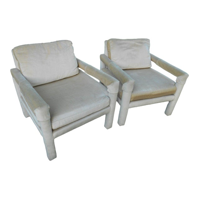 Drexel Parsons Style Club Chairs - A Pair - Image 1 of 7