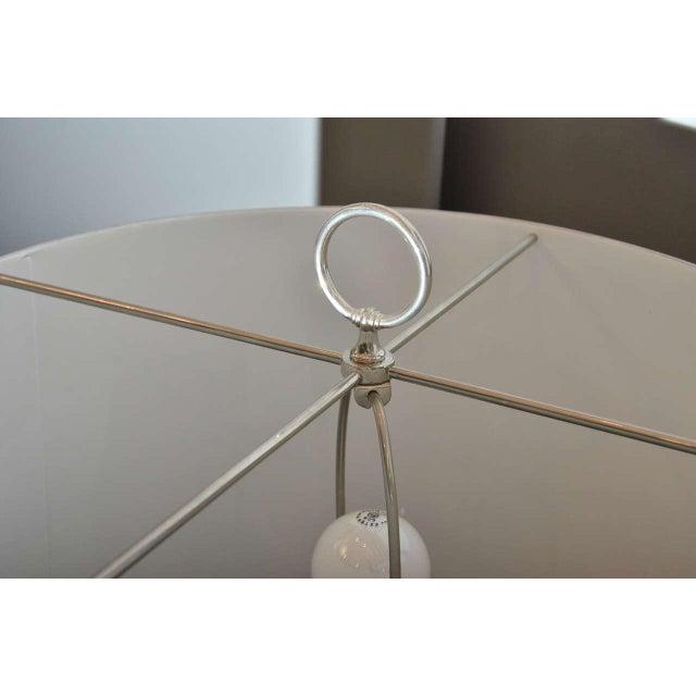 Sleek Modern Nickel Floor Lamp - Image 5 of 6