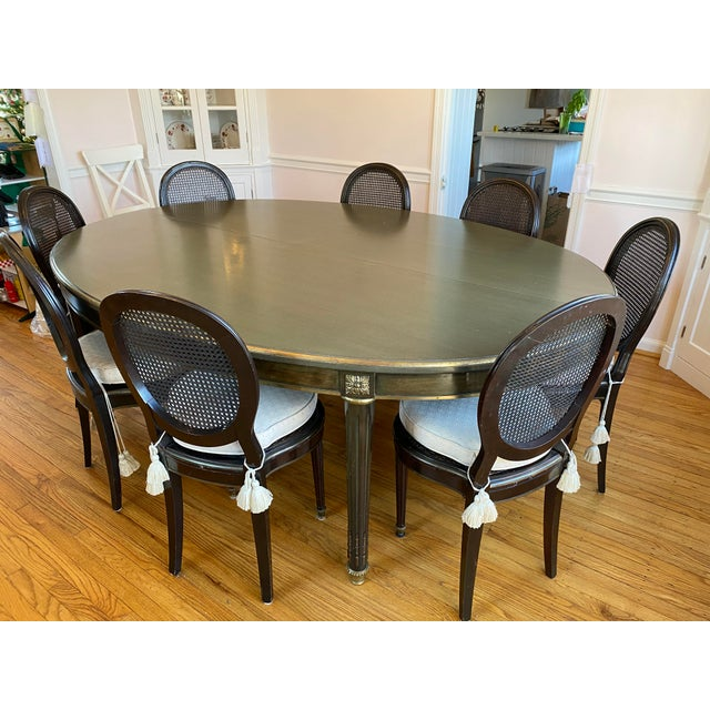 1940s French Regency Dining Room Table And Chairs Chairish