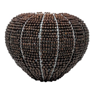 Fair Trade African Wooden Bead Vase For Sale