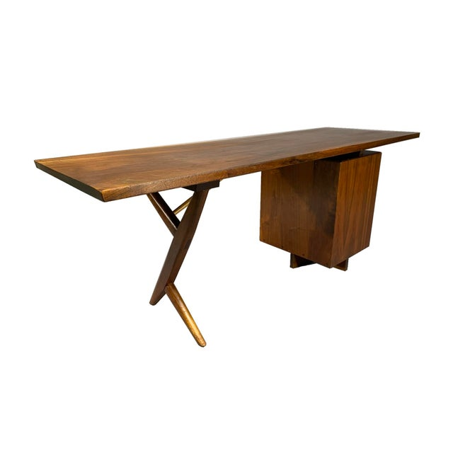 1950s George Nakashima Conoid Writing Desk For Sale - Image 5 of 8