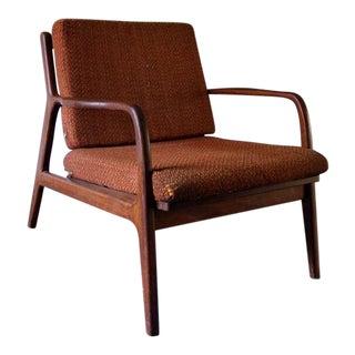 Mid-Century Danish Modern Walnut Chair, Kofod Larsen For Sale