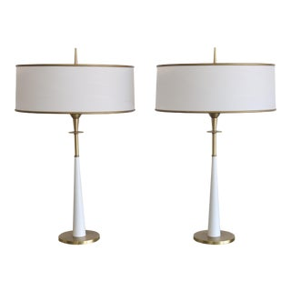 1950s Mid Century Modern Stiffel Table Lamps - a Pair